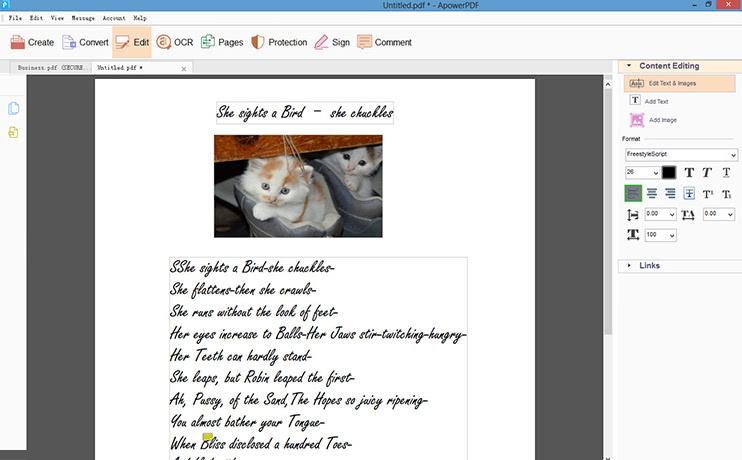 vytvářet PDF